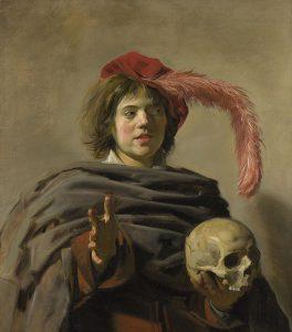 Jeune homme avec un crâne, peinture de Frans Hal, 1926.